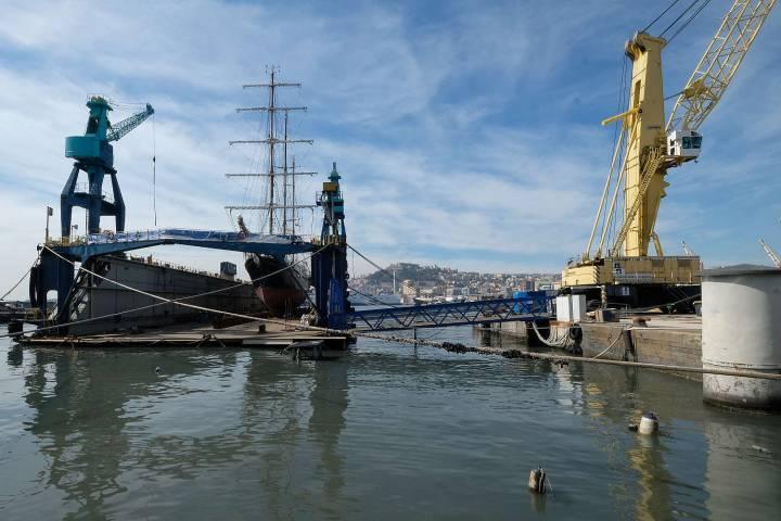MARIO LA PORTA porto di Napoli