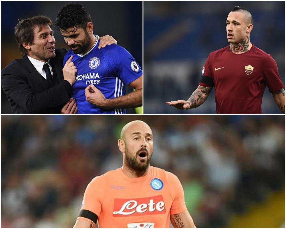 Da Diego Costa-Conte a Nainggolan: non succede solo a Napoli (il caso Reina)