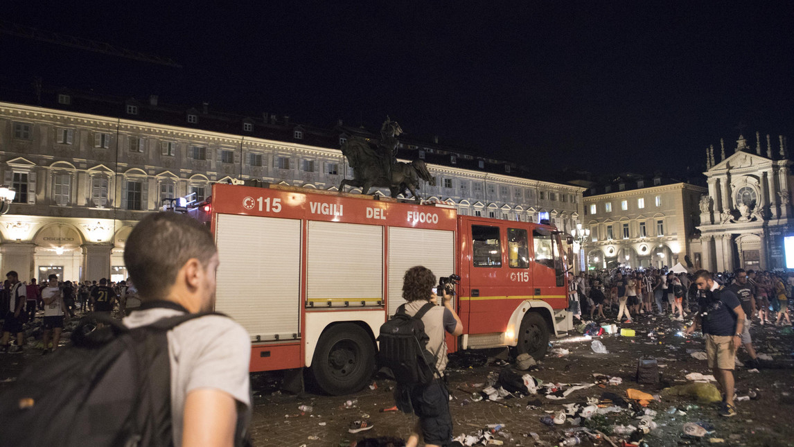 Dieci persone arrestate per i fatti di Piazza San Carlo: rapine durante la finale di Champions
