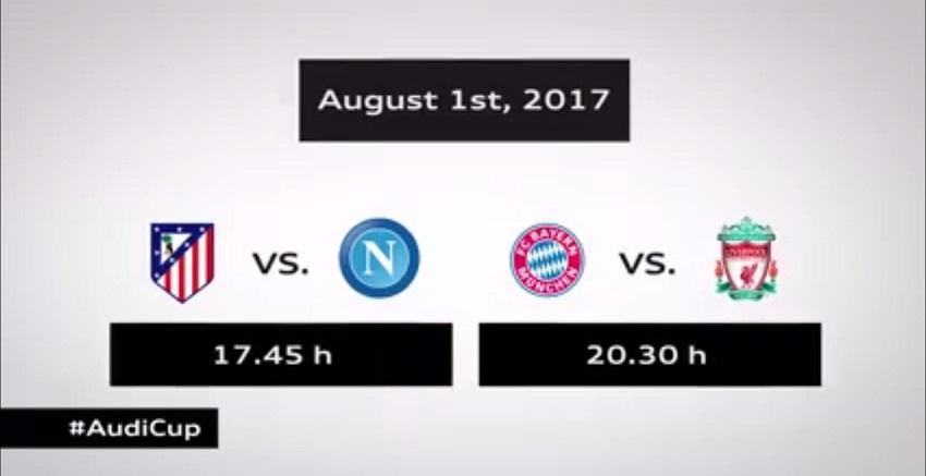 Il Napoli all'Audi Cup: affronterà Atletico Madrid, l'altra semifinale è Bayern-Liverpool