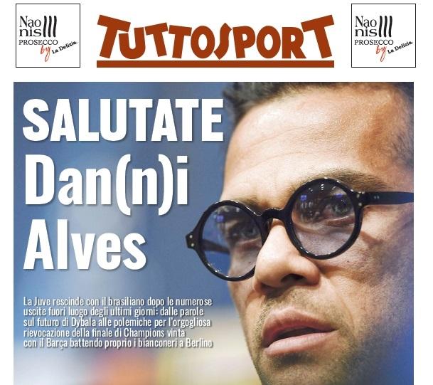 L'addio di Dani Alves è una grande sconfitta culturale della Juventus