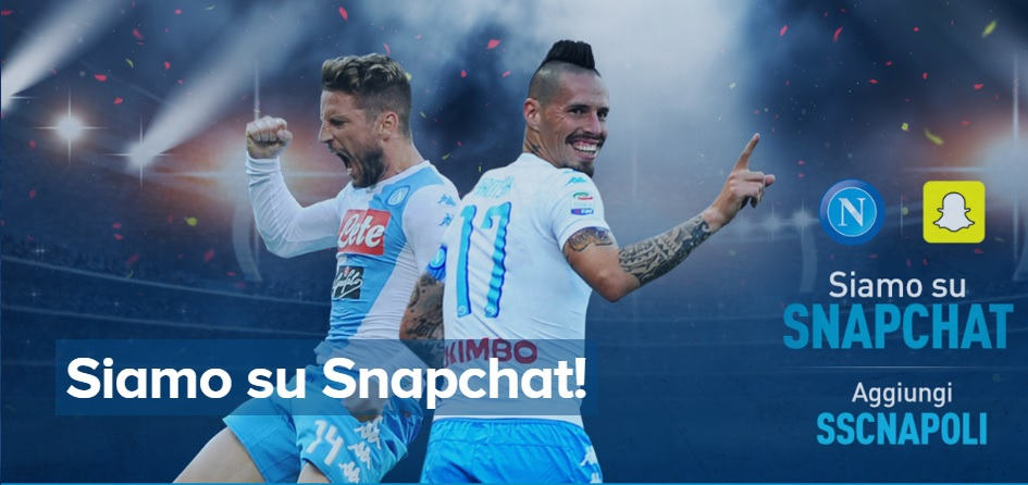 Il Napoli sbarca su Snapchat