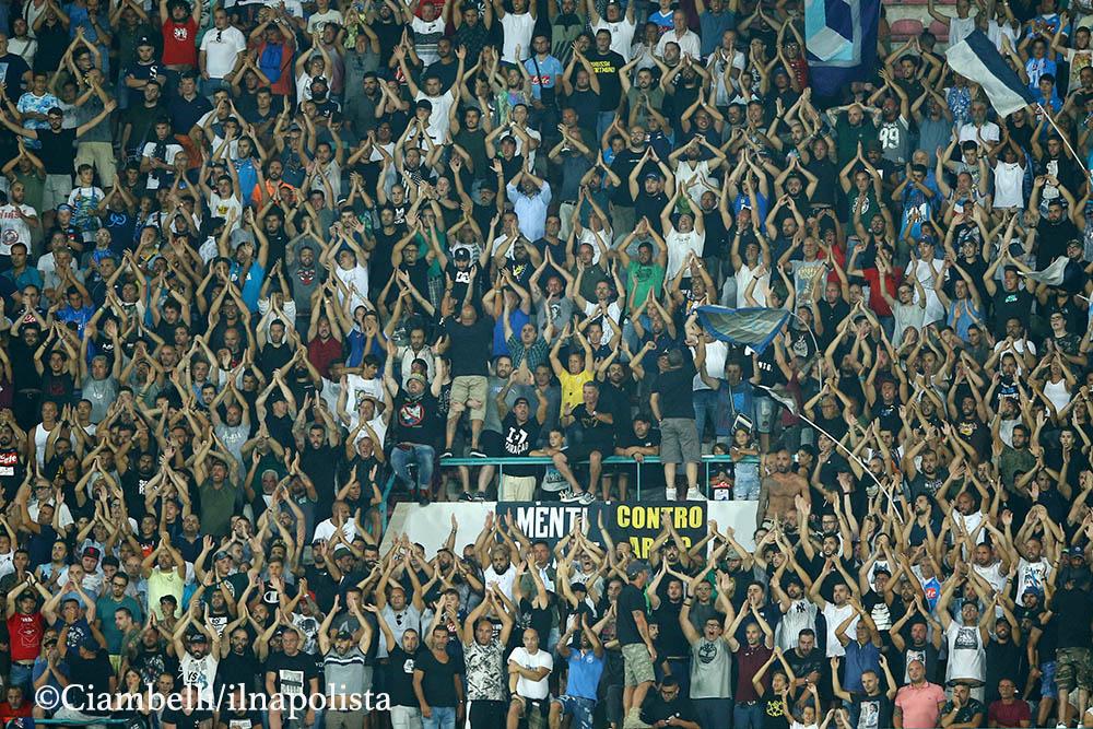 """Napoli-Nizza 2-0, la strana fauna del San Paolo nelle """"partite di cartello"""""""