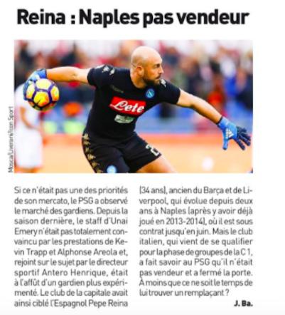 L'Equipe celebra Mbappé e scrive: «Il Napoli non vende Reina»