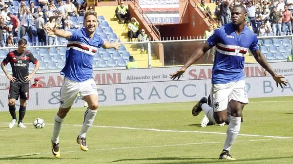 Milan sconfitto dalla Sampdoria (e da Zapata), Montella: «Siamo stati insufficienti»