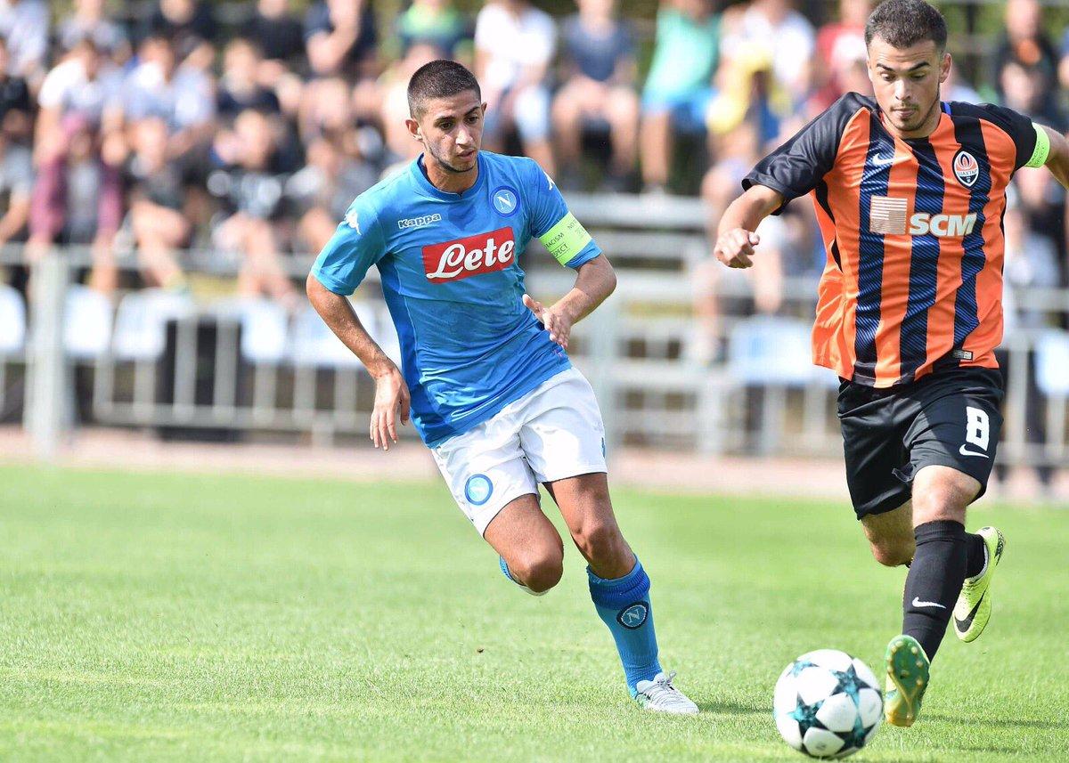 Youth League (live), Napoli 2-1 sullo Shakhtar. Gol di Gaetano e Zerbin. Espulso Palmieri