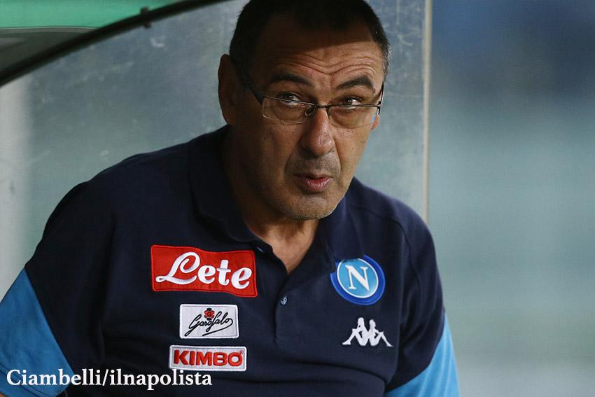 Sarri: «De Laurentiis? Nessun incontro almeno che non voglia venire in ritiro con noi»