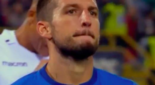 Le facce di Mertens dopo il gol: perché non ha esultato?