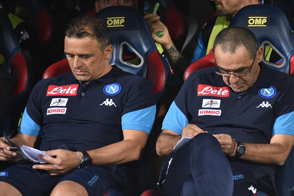 """Calzona, il vice-Sarri: """"Non è giusto scaricare le colpe dell'ammutinamento su Allan e Insigne"""""""