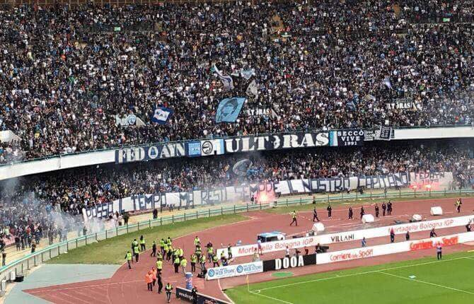 Il Napoli ha una media di 42mila spettatori al San Paolo