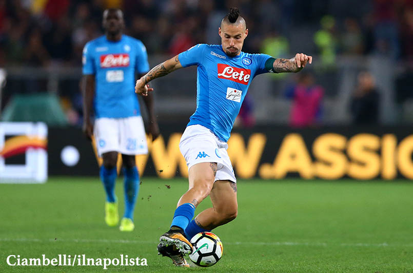 Corsport: Napoli, c'è l'ombra di un sospetto stiramento sull'infortunio di Hamsik