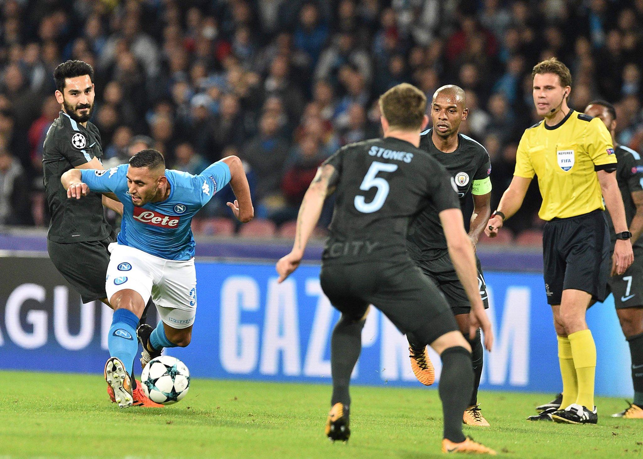 Napoli-Manchester City, il primo tempo: la bellezza e il senso di perdere Ghoulam