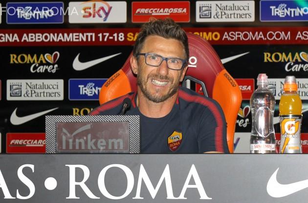 Di Francesco: «La Roma punta alla finale, lo diciamo. Non dobbiamo accontentarci»
