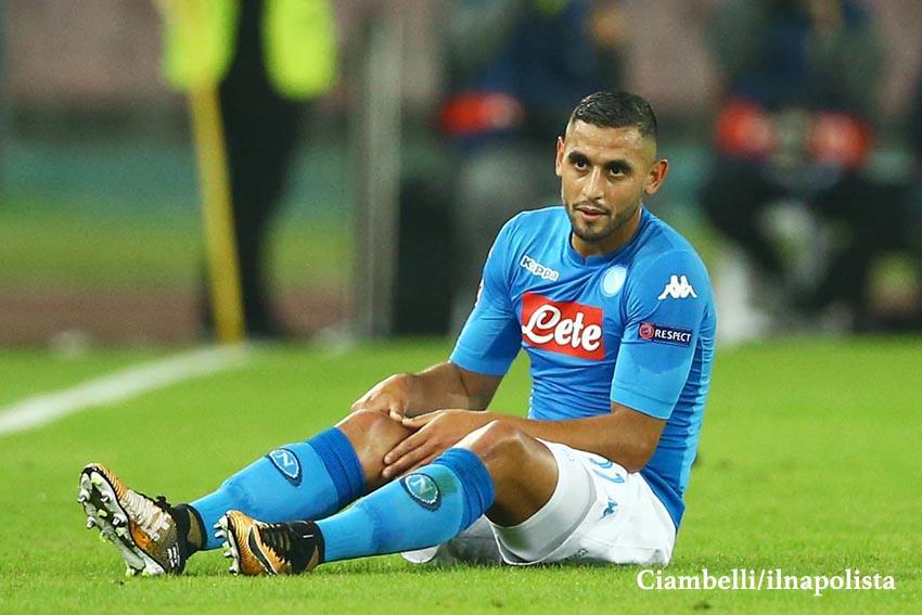Gazzetta: il ginocchio di Ghoulam si gonfia, Napoli turbato dal suo comportamento