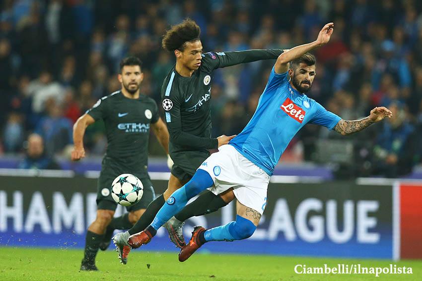 Il Manchester City schiera Sané e Gabriel Jesus contro lo Shakhtar