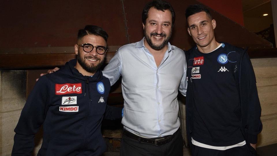 Salvini a Castel Volturno, lasciamo il Napoli fuori dalla campagna elettorale