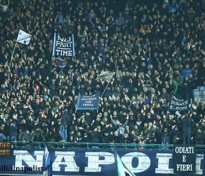 Multa di 10 mila euro al Napoli per lo striscione su Belardi