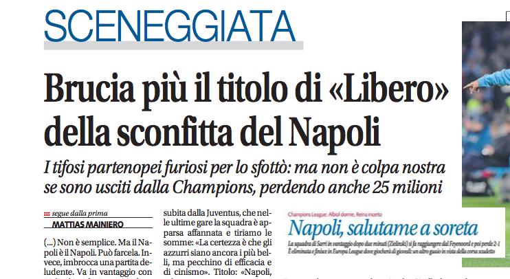 """Libero si illude di aver venduto qualche copia in più a Napoli con """"Salutame a soreta"""""""