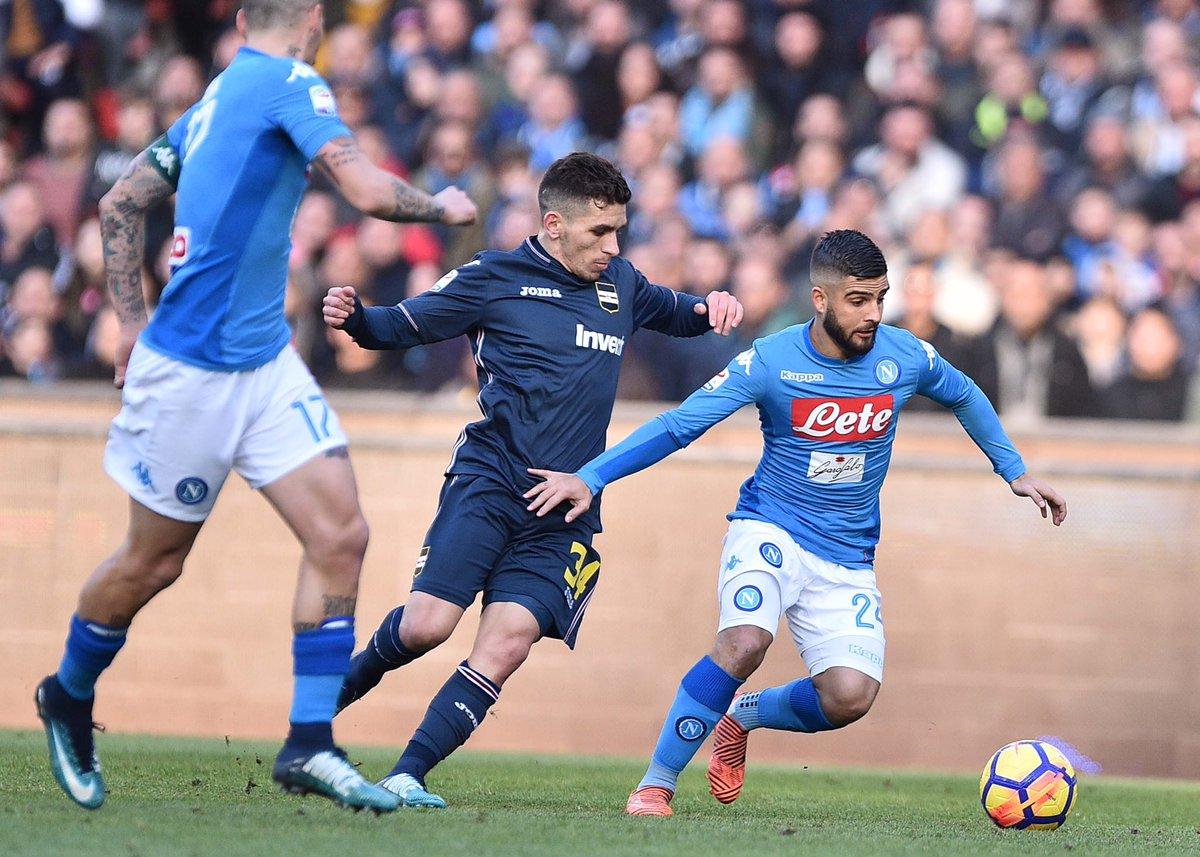 Viva Giampaolo e le uscite palla a terra. Il Napoli recupera tre palloni e batte la Sampdoria 3-2