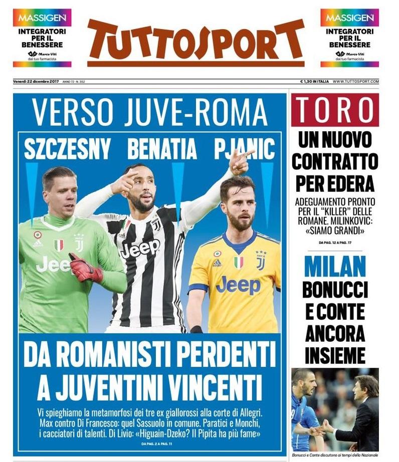 """d406b67d502b8 La prima pagina di Tuttosport sui """"romanisti perdenti"""" è puro  post-giornalismo"""