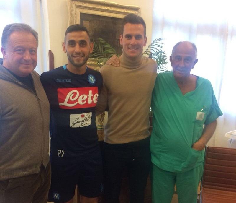 La chiarezza del Napoli su Milik e Ghoulam: un mese (almeno) prima del ritorno in campo
