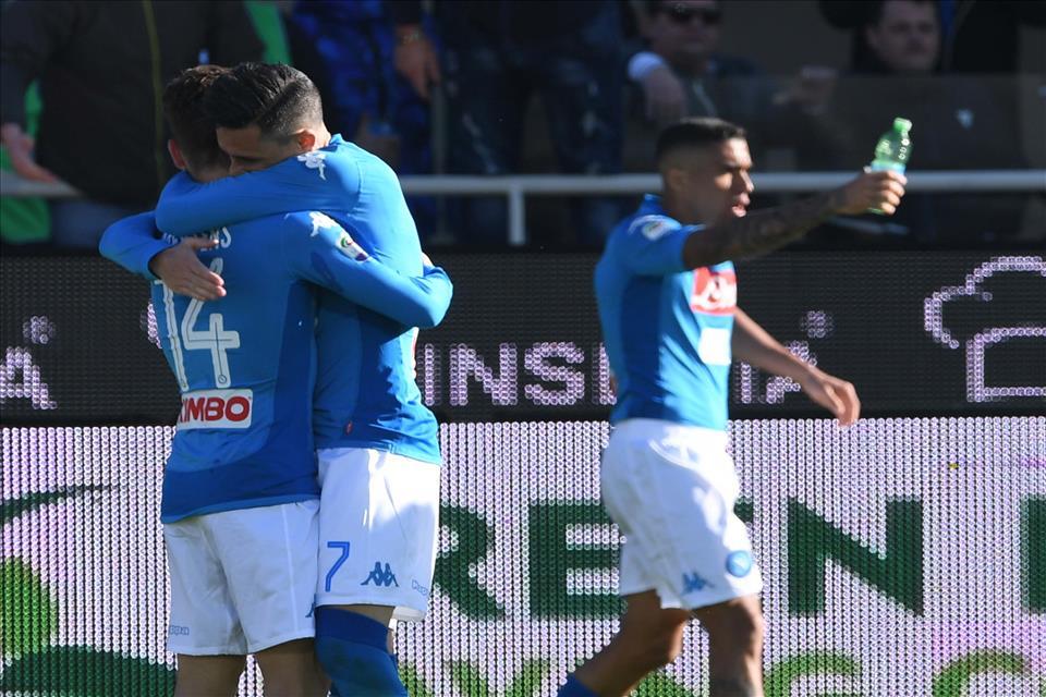 Vittoria del Napoli nell'accogliente Bergamo, in attesa del sorpasso di stasera