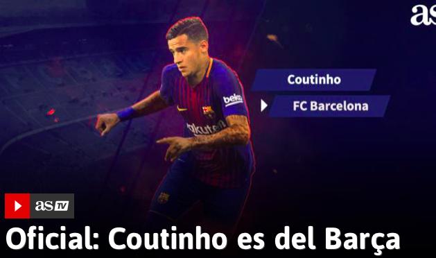 Coutinho dal Liverpool al Barcellona per 160 milioni