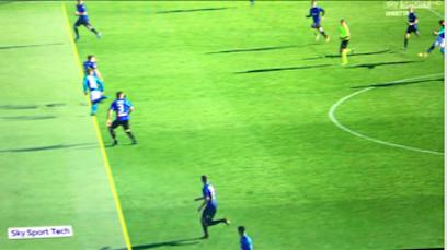 Caressa a Sky mostra il gol di Mertens: «Vi spiego perché è regolare»