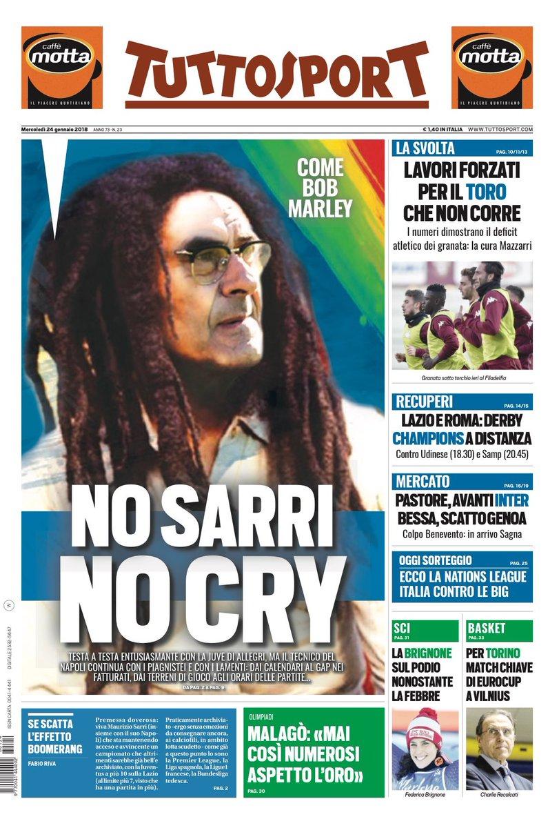 """""""No Sarri, no cry"""": la goliardata di Tuttosport conferma che l'ossessione ce l'hanno (anche) loro"""