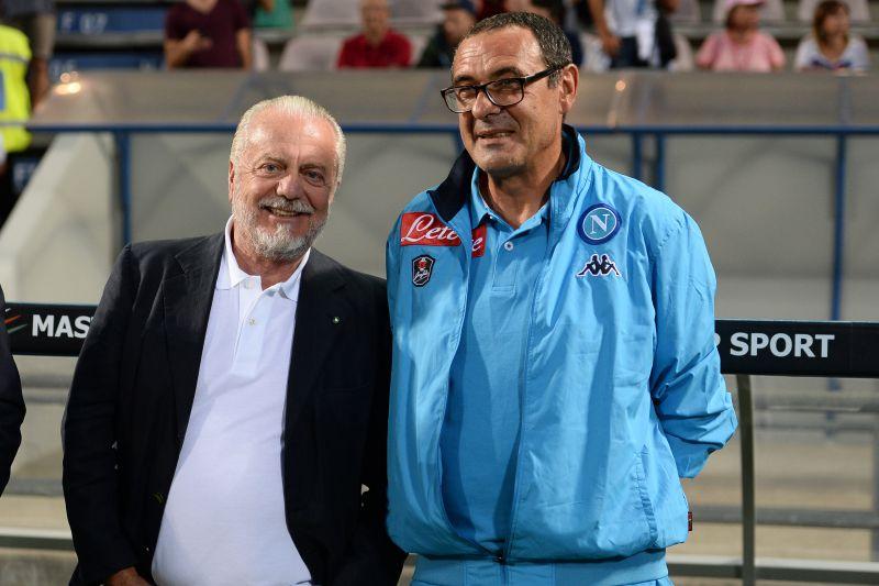 De Laurentiis: «Sarri può rimanere a vita, dipende da lui. C'è una clausola, spero di toglierla»