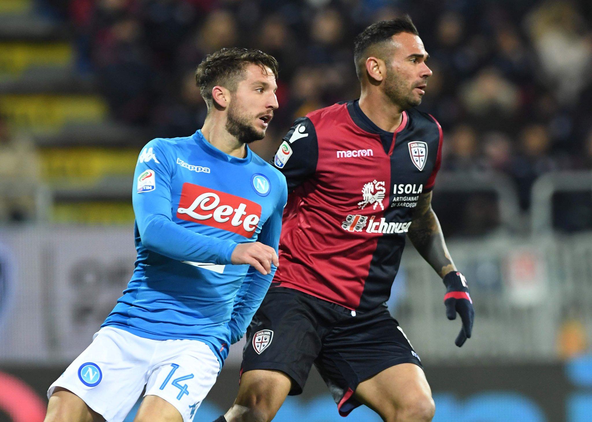 Cagliari-Napoli 0-2, il primo tempo: i sardi iniziano bene, poi però esplode il Napoli