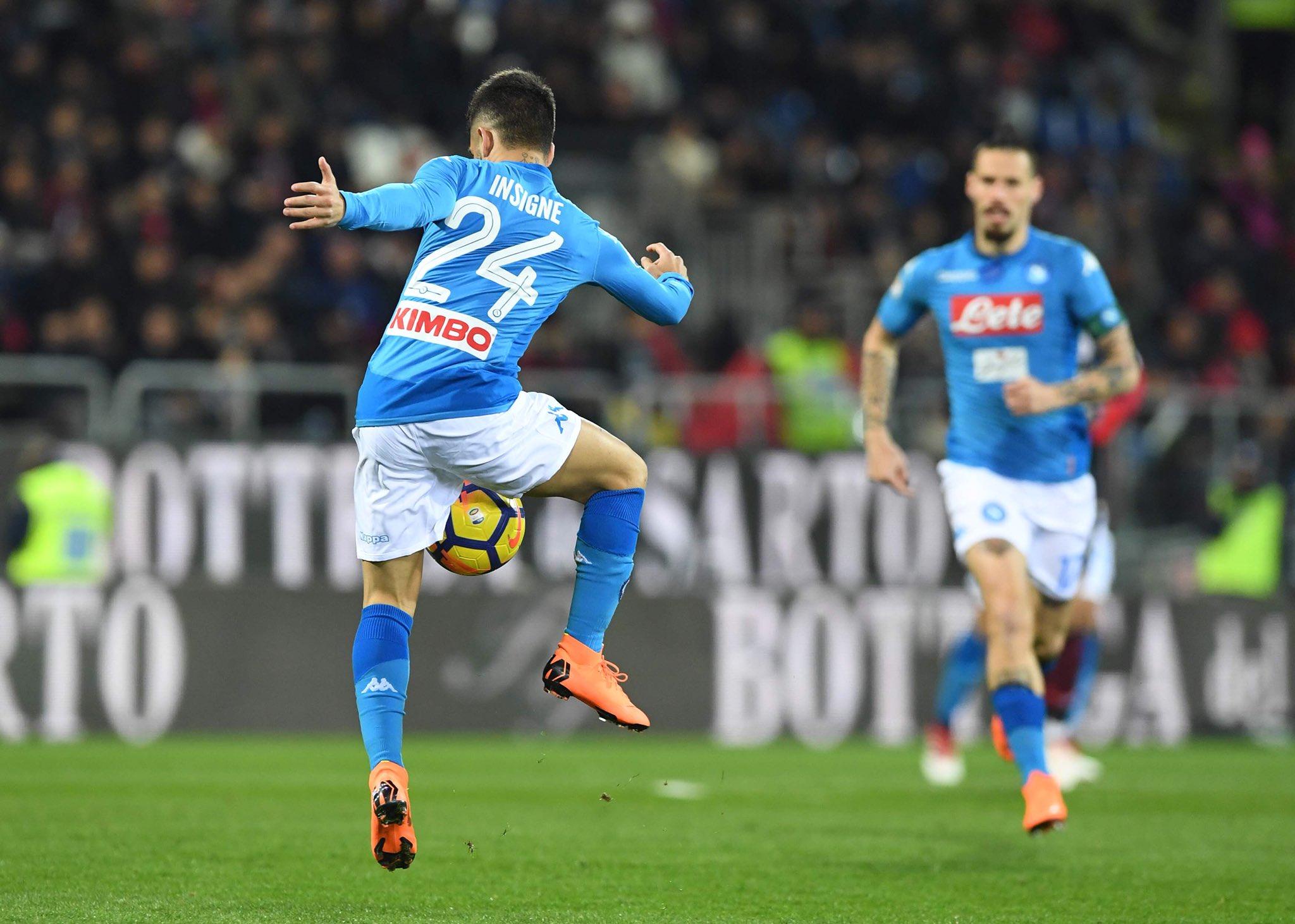 Napoli, 10 vittorie di fila in campionato; 13 gol nelle ultime tre trasferte a Cagliari