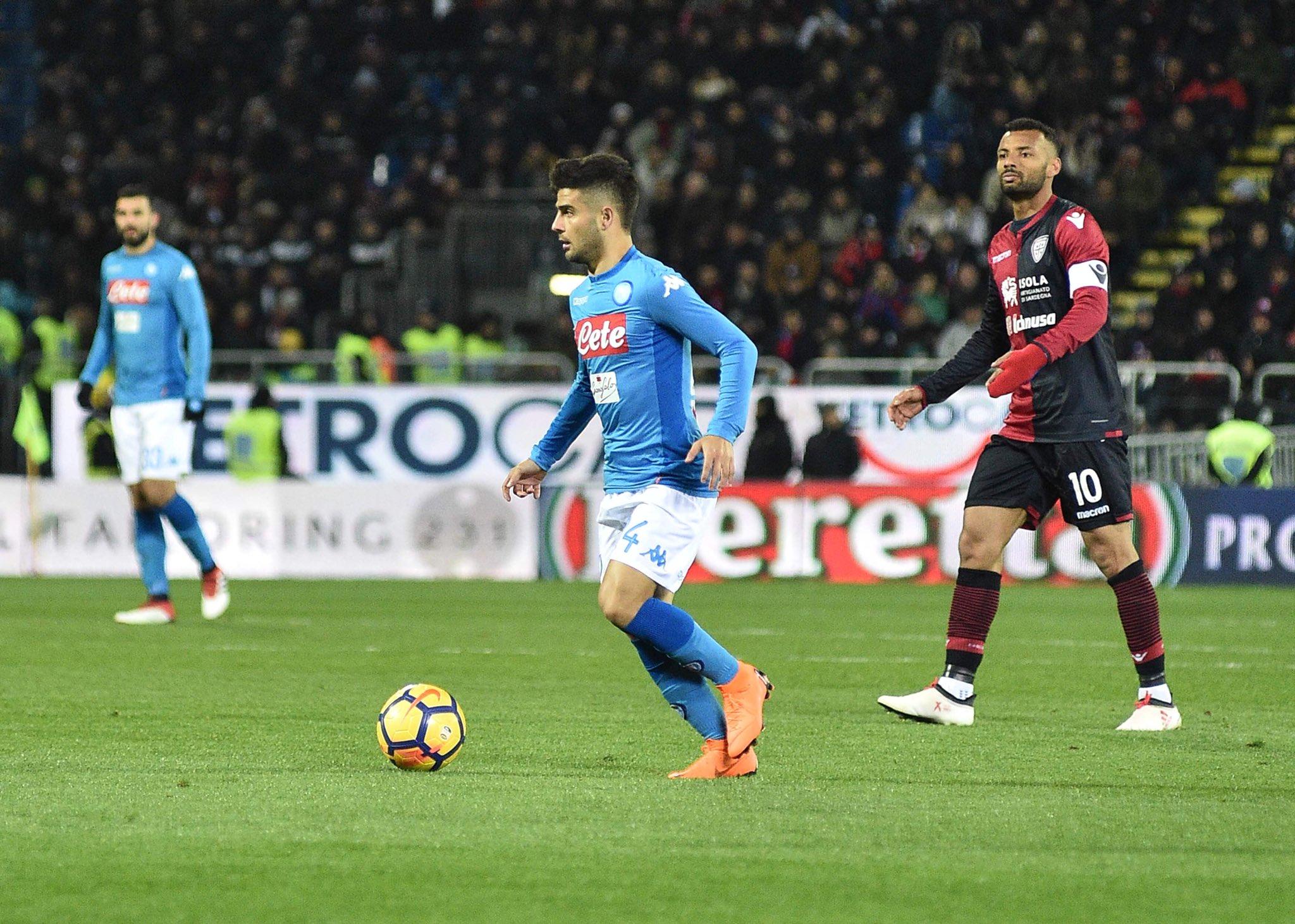 Cagliari-Napoli 0-5, la festa del gol: Callejon, Mertens, Hamsik, Insigne e Mario Rui