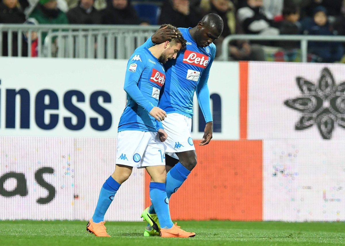 Il Napoli demolisce anche il Cagliari: viaggia alla media di 101 punti