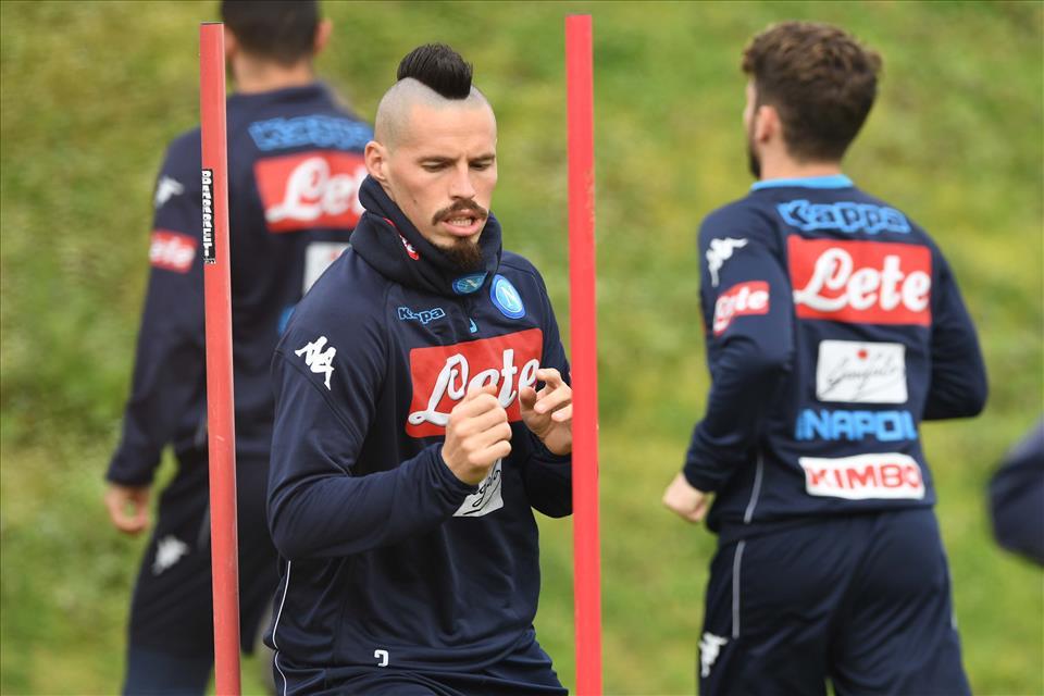 Napoli-Genoa, la squadra di Sarri stasera in ritiro a Castel Volturno
