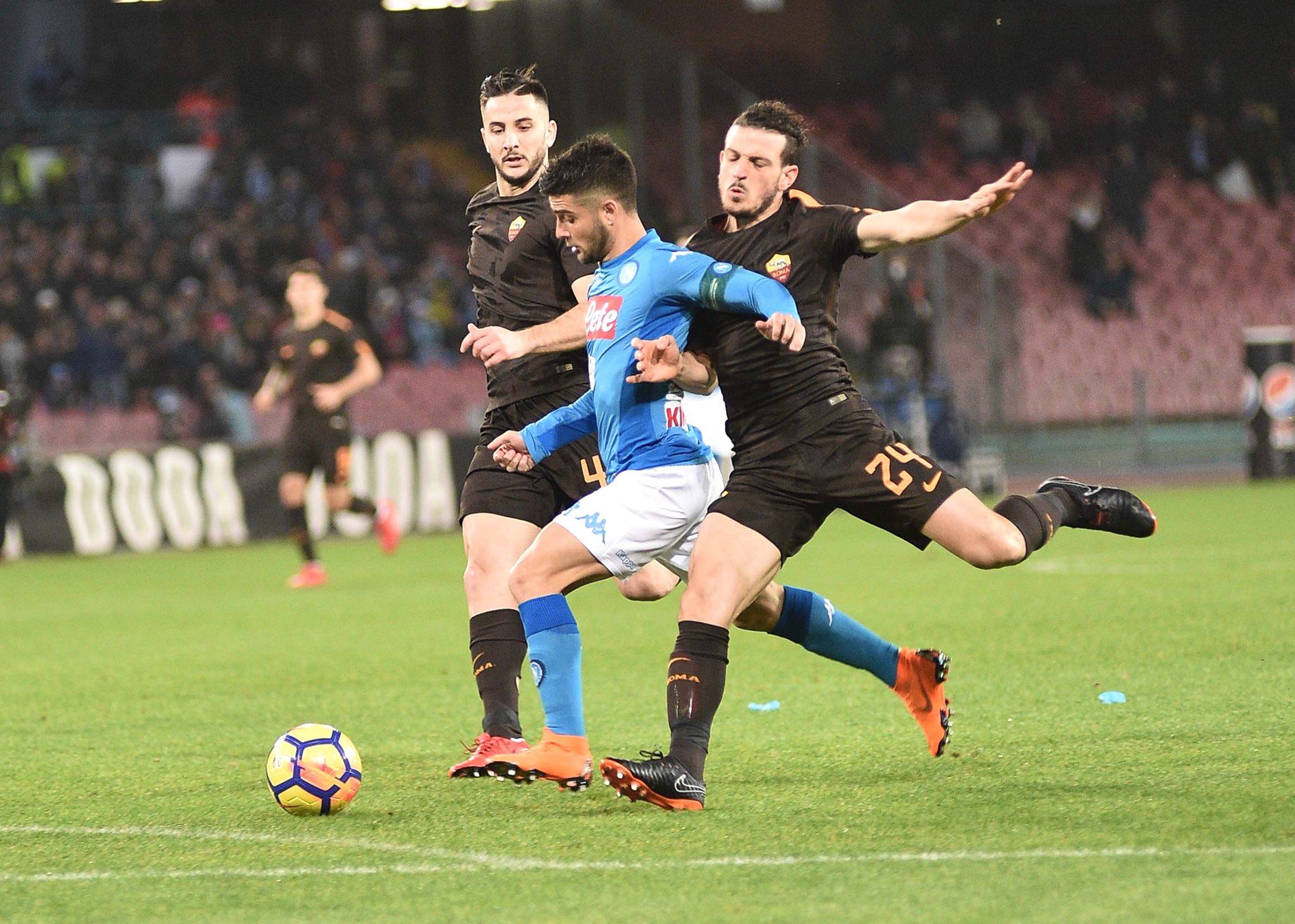 Napoli-Roma 1-2, il primo tempo: la rimonta dopo l'inizio da sogno