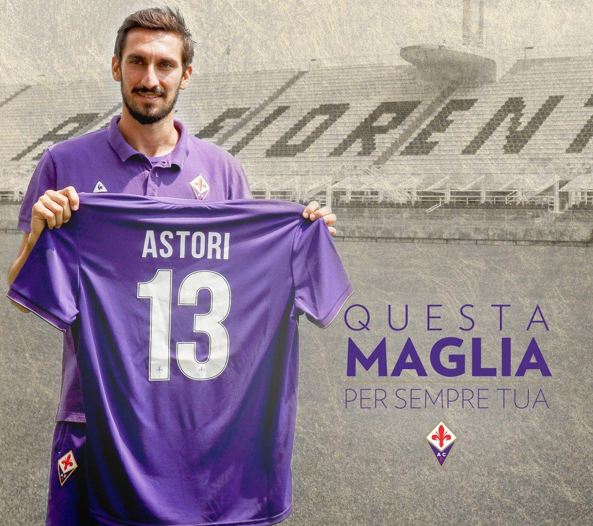 Fiorentina e Cagliari hanno ritirato la maglia numero 13 di Davide Astori