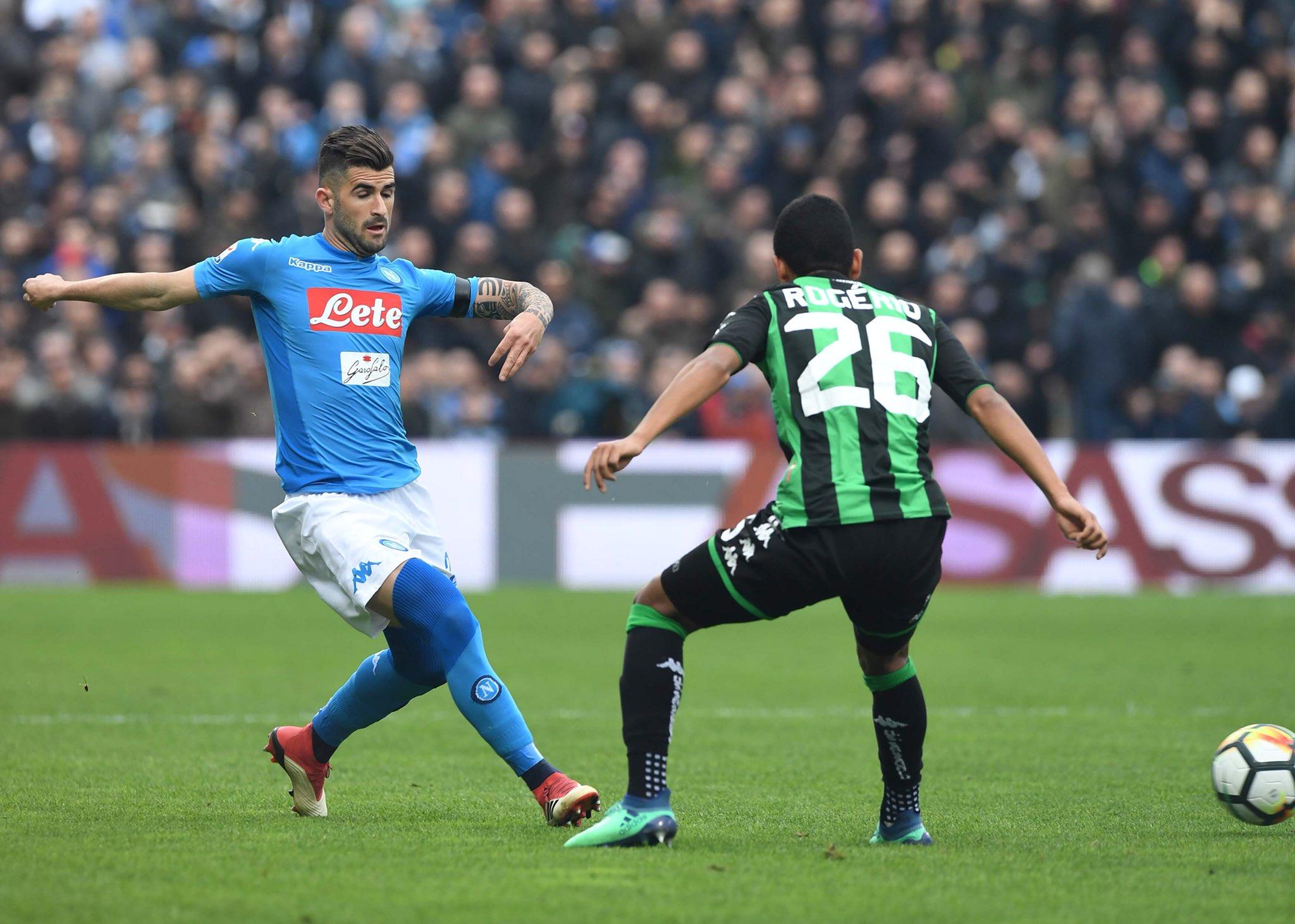 Sassuolo-Napoli 1-0, il primo tempo: azzurri imprecisi (davanti e dietro), Politano punisce
