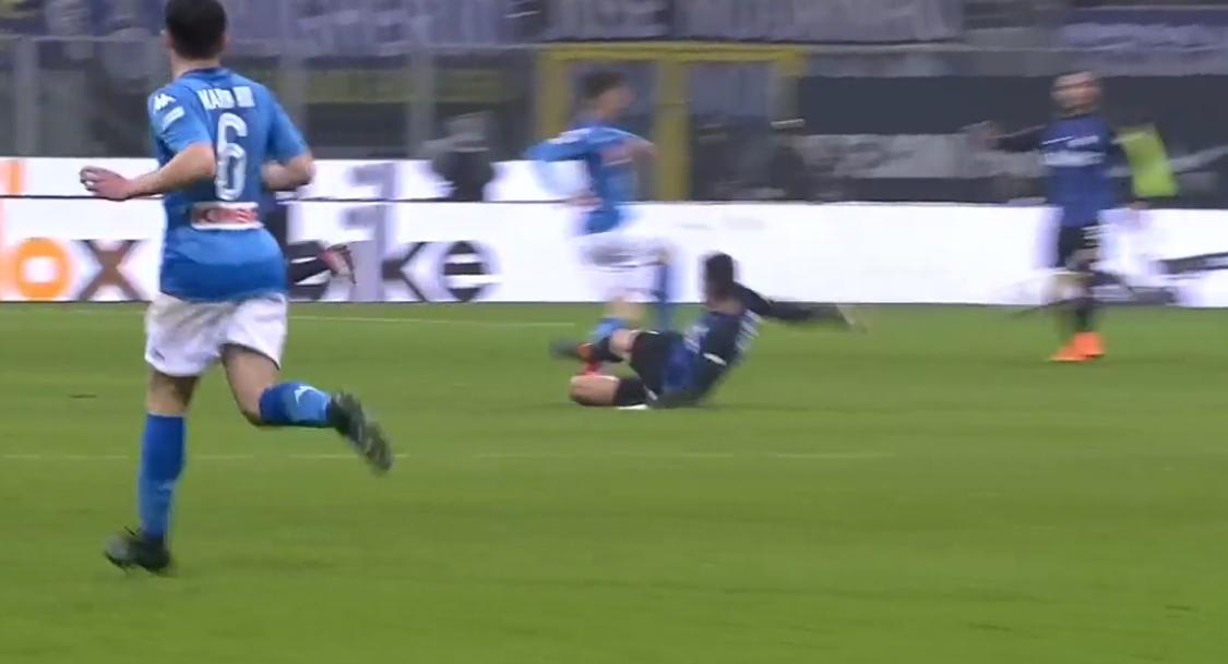 Inter-Napoli, la moviola di Marelli: «Gagliardini andava espulso»