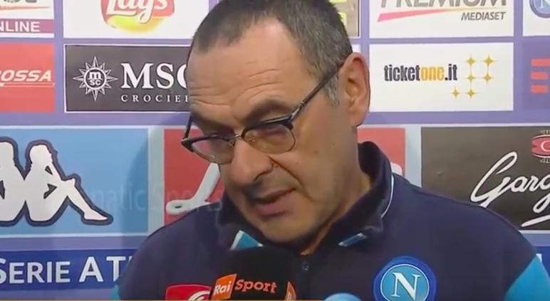 Sarri: «Siamo noi a dover dimostrare di non aver paura contro la Juventus»