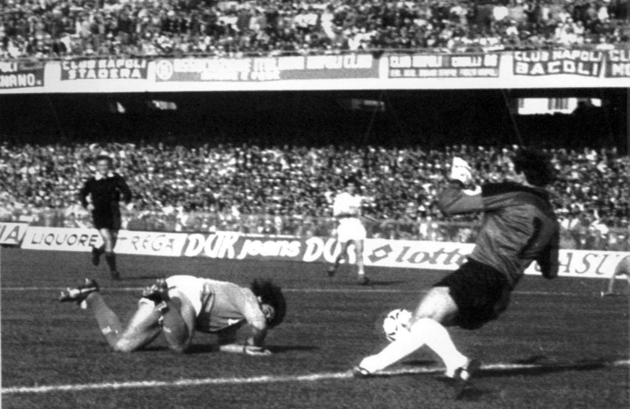 La mia fu una pipì all'improvviso, al gol di testa rasoterra di Maradona