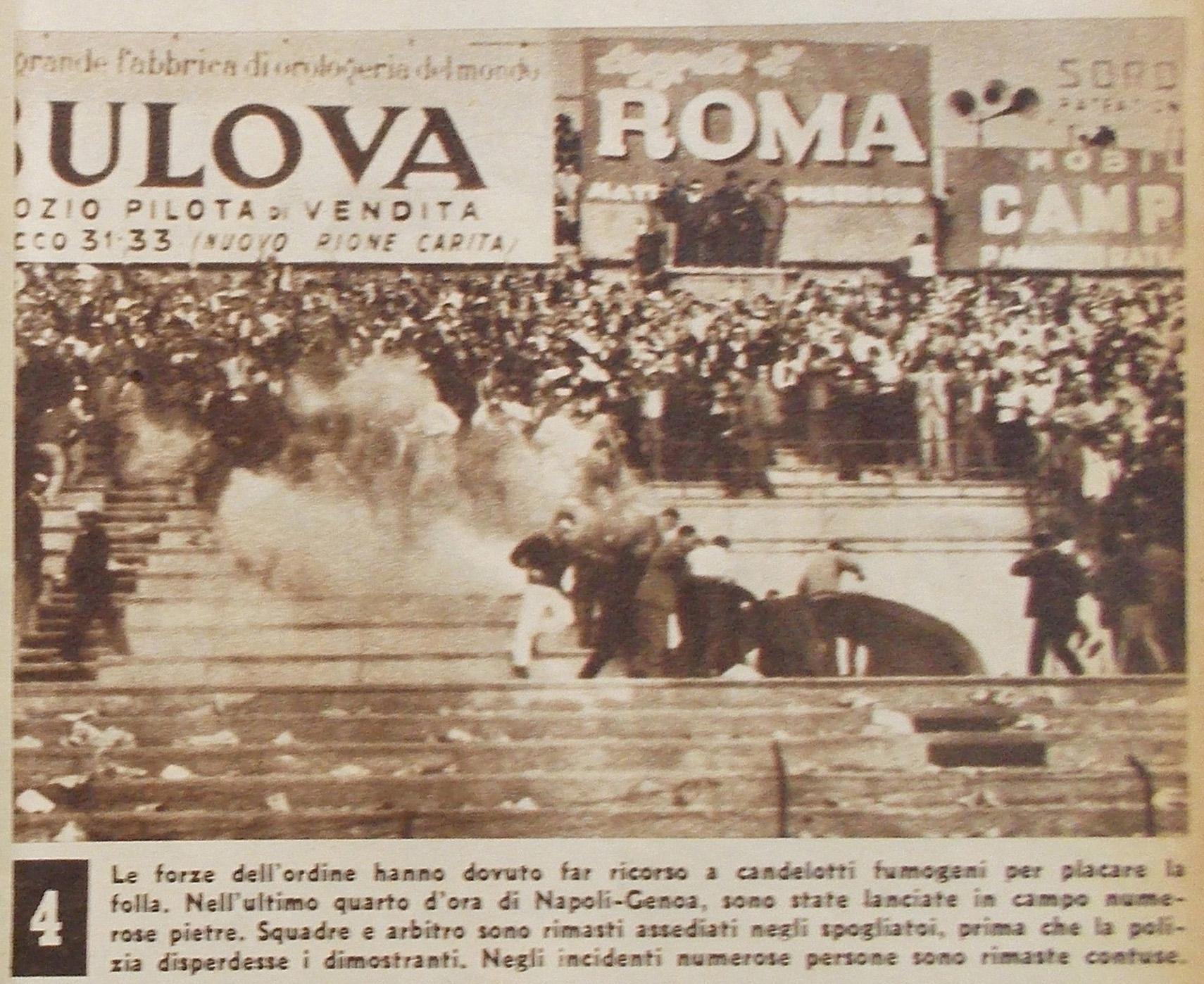 Un lancio d'oggetti all'improvviso. Era il 1959, Napoli-Genoa, e fu amore