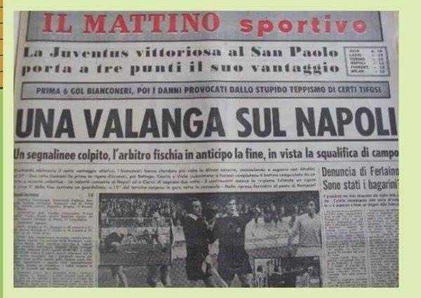 A otto anni, Napoli-Juventus 2-6, mi vergognai di tifare bianconero