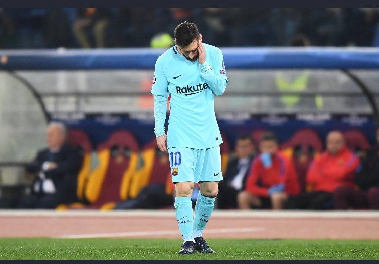 Roma-Barcellona: mai visto Messi così triste, così assente