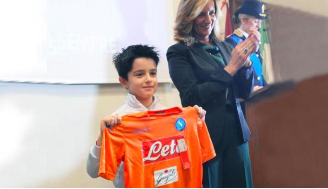 È tifoso del Napoli il portiere di 8 anni premiato a Vercelli per la sua onestà sportiva