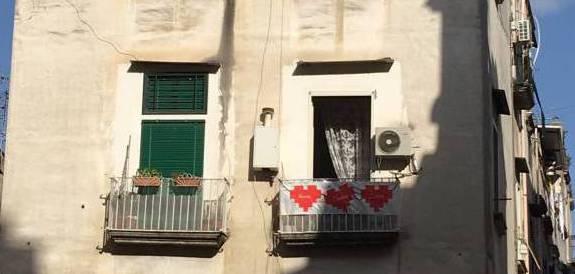 Quori stesi ai Quartieri Spagnoli