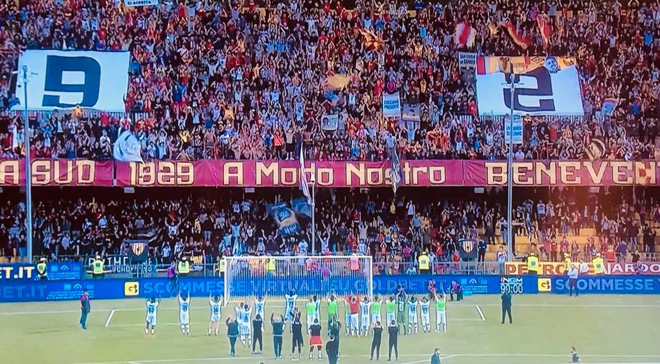 La stagione del Benevento e gli applausi del Vigorito, apprendistato e lezione di sport