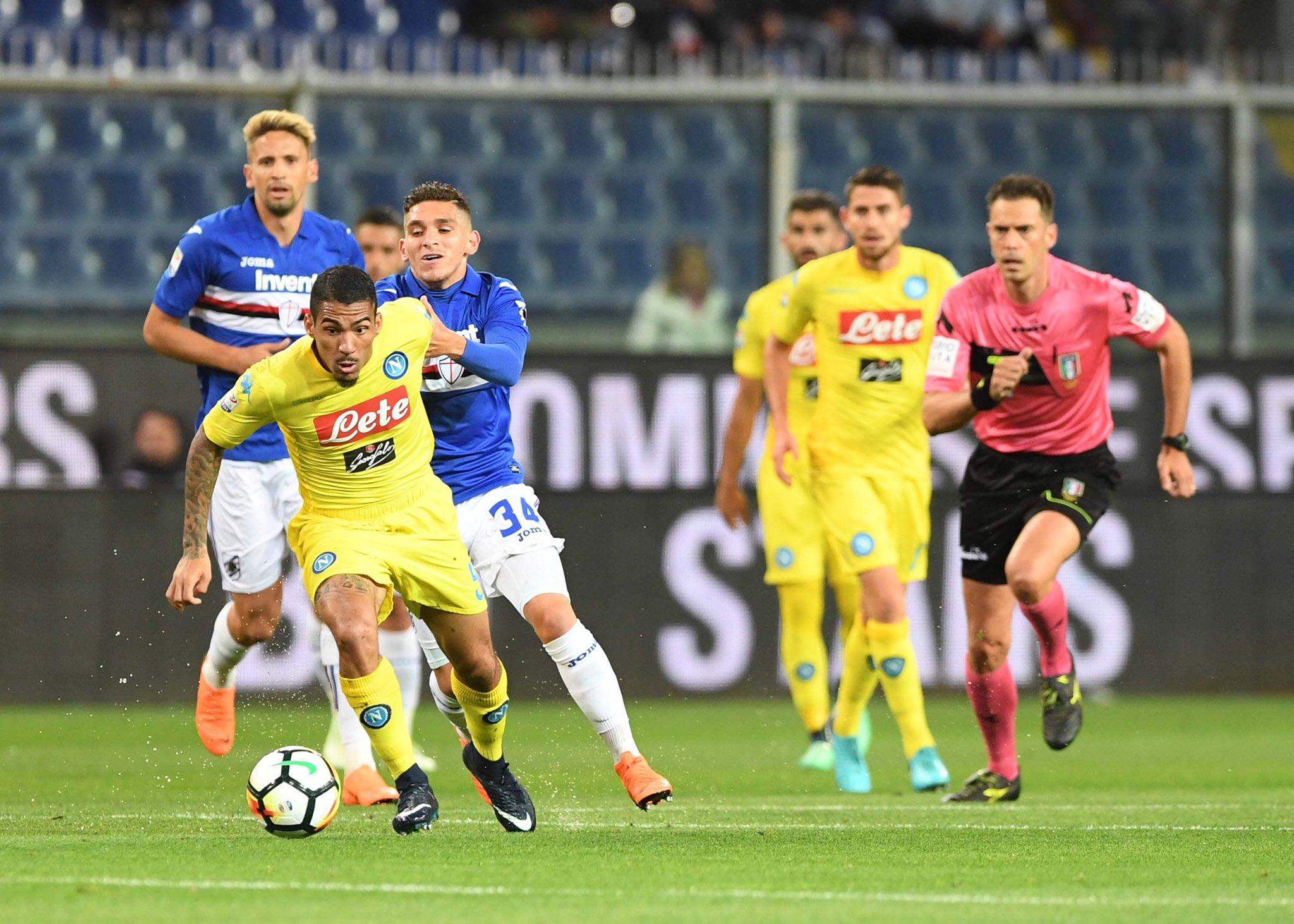 Sampdoria-Napoli 0-0, il primo tempo: vorrei, anzi voglio, ma non riesco