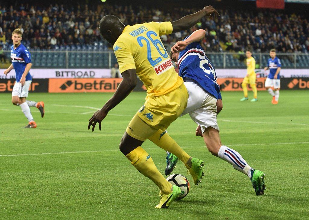 Sampdoria-Napoli 0-2, Milik e Albiol rendono meno amaro lo scudetto alla Juve