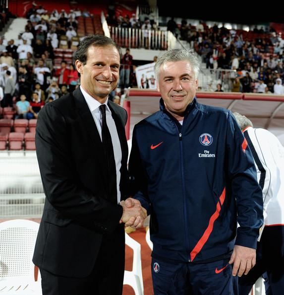 Allegri: «Non sono sorpreso dal Napoli secondo, Ancelotti è un vincente e si vede»